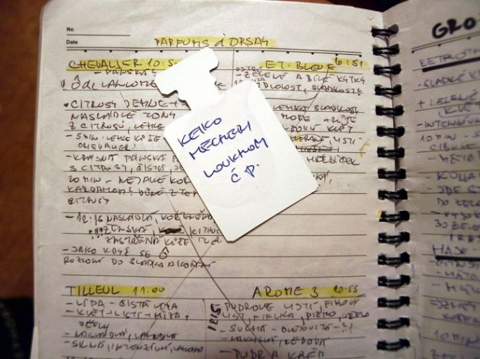 Cestovní blog. Zapisuju testy nápady, zakládám papírky, účtenky, reklamu...v žádném případě ho nikomu naživo neukážu, je to ten nejvoňavější a nešpinavější blok široko daleko.