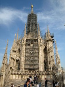 Na střeše. Il Duomo Milano