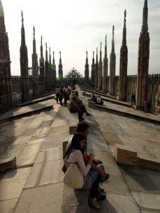 The top. Il Duomo Milano.