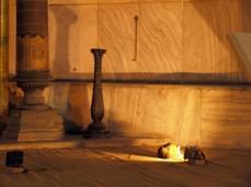 Hagia Sofia: mihráb (něco jako oltář, výklenek směřující k Mekce, ukazuje směr modlitby)