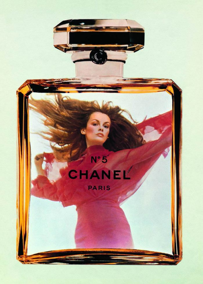 1971 Chanel No.5  Jean Shrimpton  by Helmut Newton