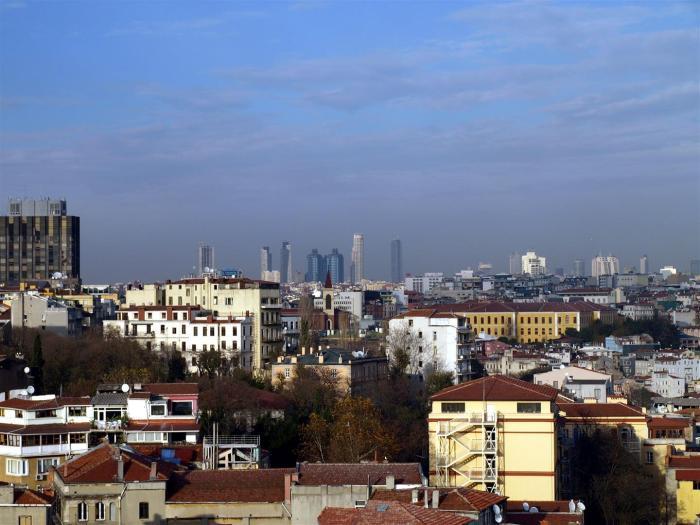 Moderní Istanbul.