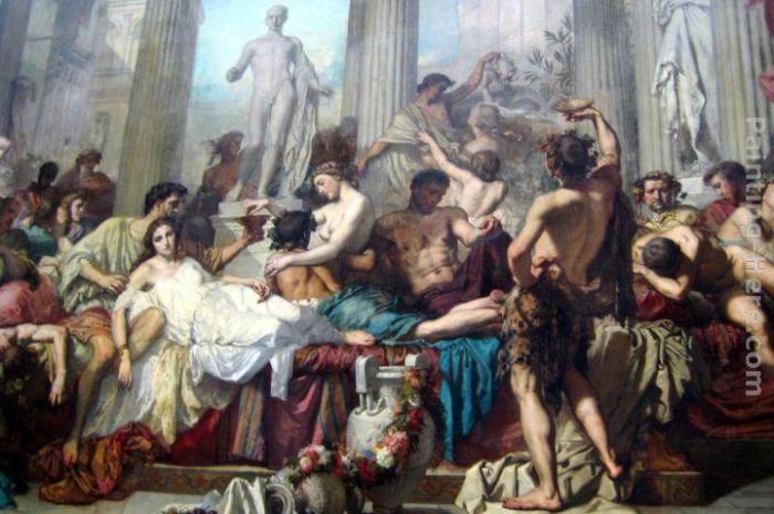 Představa neznámého malíře o tom, jak si požitkáři uživají. Zdroj obrázku: framingpainting.com
