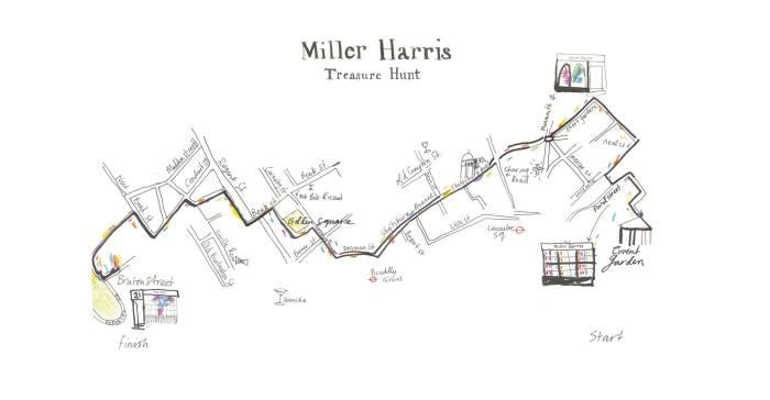 Miller Harris geocaching treasure hunt etui noire lumiere doree