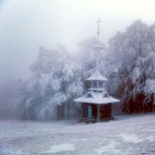 zima sníh led pustevny mráz